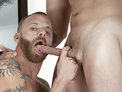 Watch Ty Dylan and Darius Soli, suck, slam, and seed resident beefcake Derek Parker. Derek's hungry hole soaks up two huge loads in this hot ass-pounding scene.