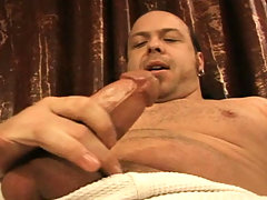 This guy like to wank his cock after smoking a cigarette! daddy gay porn