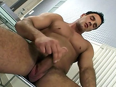 Hot dude enjoying his own cock and whack off to cum
