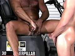 Hungry dude throating meaty schlong