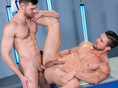 Two hot, strong stallions stand toe-to-toe and cock-to-cock. The striking Ryan Rose and irresistible Jacob Peterson fondle every other with intense passion. It's not long previous to scruffy Jacob gets to his knees and gives Ryan a spit-dripping blowjob,