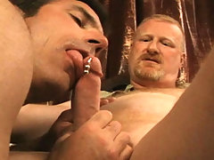 DILF playing amazing sex games with younger dude in heat!