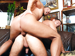 Rick & Giorgio fuck get joy animals on all fours on the sofa daddy gay porn