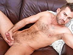 hot hairy bear wanks his thick delicious stick until this guy cums daddy gay porn