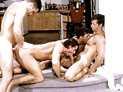 These four randy studs work always other loves a nasty frenzy.