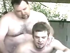 Bear mature gay fucks amateur guy in garage daddy gay porn