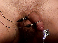 This first time prisoner's nerves are clearly worked up as he gets chained to the comfy chair. Sir warms him up with the threat of striking his chest and proceeds to tease his nipples. The dude sub starts to get remarkable uncomfortable when the electri daddy gay porn