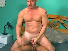 Sensual dilf get fucked by his stepson in his bed room