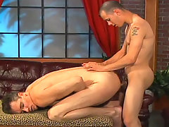 Two hot studs having some hardcore anal fucking in here daddy gay porn