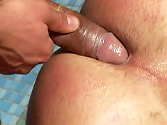 The triplets fucking & cumming on a handsome man by the pool daddy gay porn